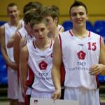 Церемония открытия финала первенства России по баскетболу среди юношей 1996 года рождения в Перми.
